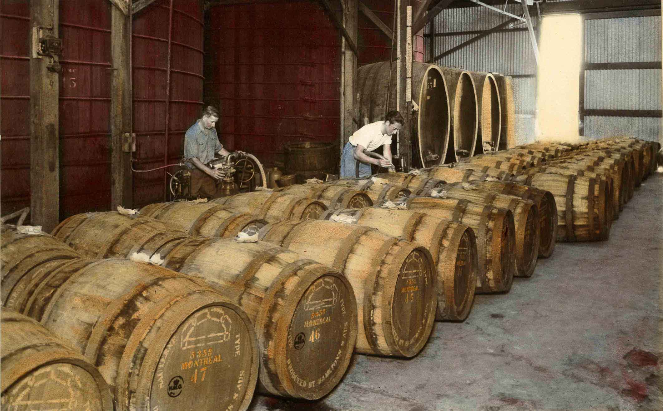 Barrel Room Hamiltons Ewells Winery 1920s