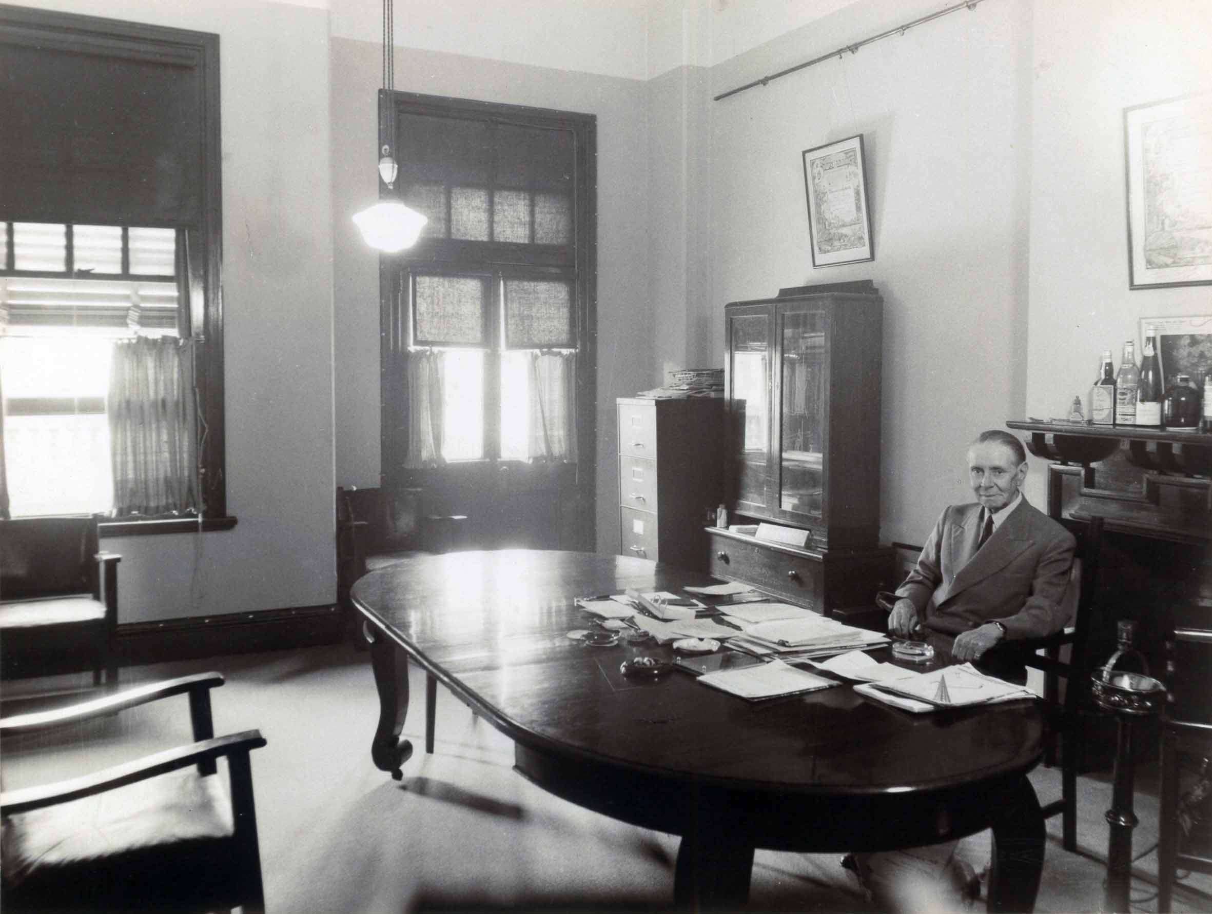Eric Hamilton at his desk