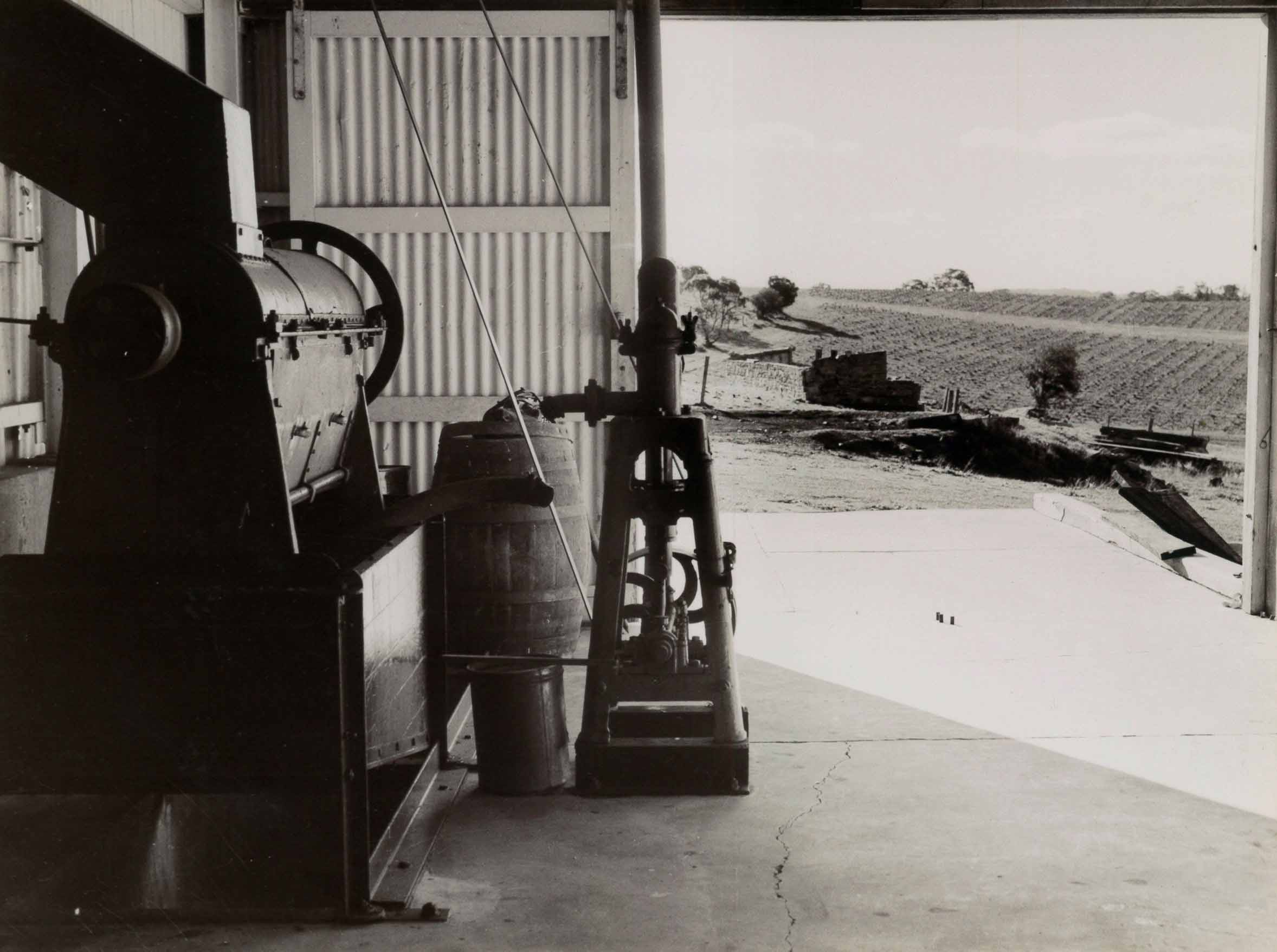 Grape Mills and Must Pump at Springton Wines