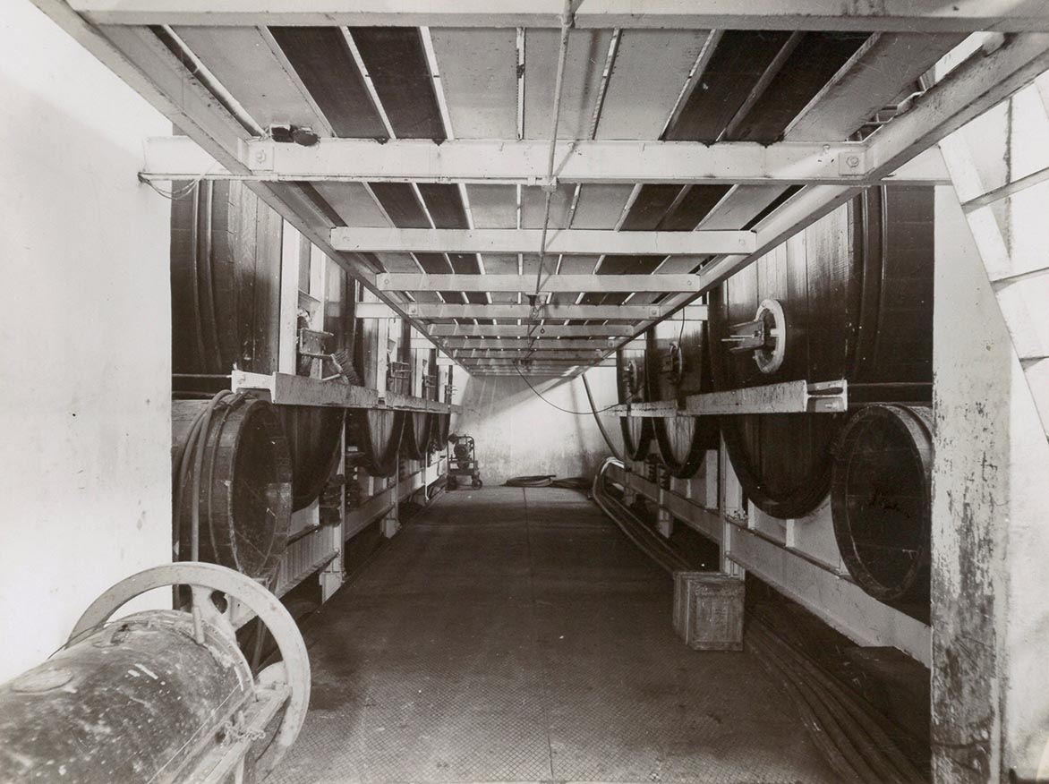 Storage Vats at Springton Winery 1970