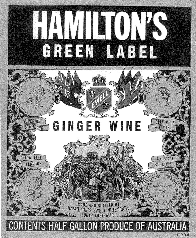 Hamiltons Green Label Ginger Wine