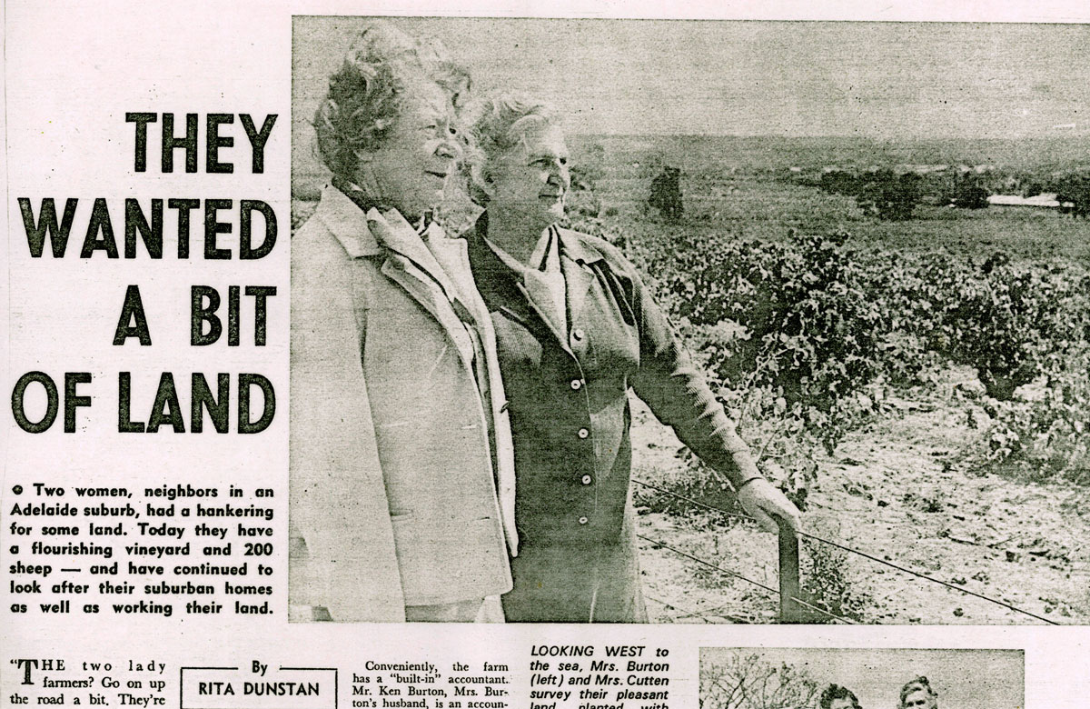 Mrs Burton and Mrs Cutton article photo only